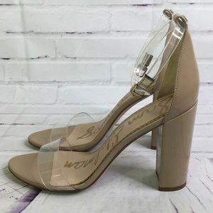 be72555a4ad5 Sam Edelman Shoes - Sam Edelman Yaro Heeled Sandal Clear Nude Size 9